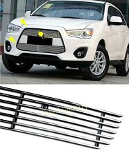 Front Grille Around Cover Trim for 2013-2015 Mitsubishi Outlander Sport/ASX 2pcs