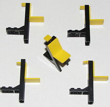 LEGO LOT OF 5 TRUCK FORTLIFTS YELLOW AND BLACK CARS VEHICLE PIECES