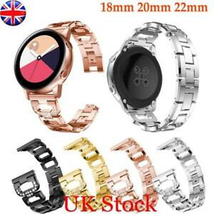 18/22/20mm Stainless Steel Watch Band Quick Release Pin Bracelet Metal Strap UK