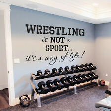 Wall Decals Quotes Sport Wrestling Gym Bedroom Decal Vinyl Sticker Decor DA3786