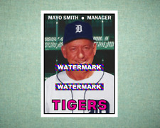 Mayo Smith Detroit Tigers 1967 Style Custom Baseball Art Card