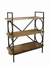 Industrial Style Free Standing Shelving Unit, 3 Shelves