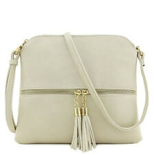 Women Leather Tassel Bag Crossbody Bag Pure Color Shoulder Bags Messenger Bag CA