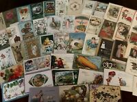 Lot of 50~Holiday Greeting Postcards~Easter~Xmas~Valentine~etc. In Sleeves-g209