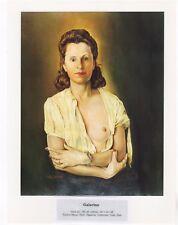 """SALVADOR DALI  Print Book Plate 9x12--""""GALARINA"""" 1944"""
