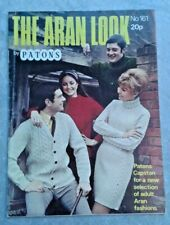 1960s Patons The Aran Look Booklet No 161 Knitting Patterns Men/Women