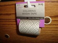 #1 one Roll Coloring Washi Tape Kaleidoscope design Decorating-Crafts & More