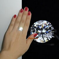 18k White Gold Plated Made with Swarovski Crystal Wedding Cocktail Ring R97
