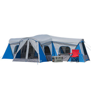 16 Person Cabin Tent Hazel Creek Family Removable Stable Three Door Stability