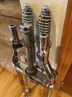 """Vintage Inline Chrome Springer Front Fork Assembly Harley- 35"""" overall 22"""" forks"""
