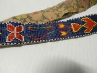 ANTIQUE VINTAGE C1920s SIOUX PLAINS INDIAN LOOM BEADED INDIAN BELT - PICTORIAL