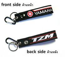 Yamaha TZM Racing Biker Motorcycle Embroidered Belt Tag Keychain Key Holder