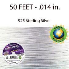 Extreme Flex-925 Sterling Silver-Beading Wire-Soft Flex-.014 in .Fine-50 Feet