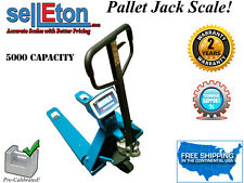 NEW Industrial pallet jack scale with 5000 lb. capacity x 1 lb.