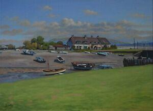 Original oil painting on canvas set at Porlock Weir, Somerset