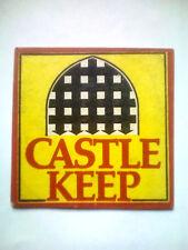 Vintage WHITBREAD - CASTLE EDEN  - Cat No'06 Beermat / Coaster