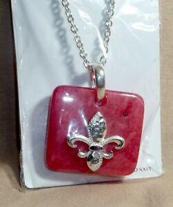 Fleur de Lis Earring Necklace Set