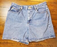 Vintage Liz Claiborne Womens Classic Fit High Rise Mom Denim Jean Shorts Sz 14