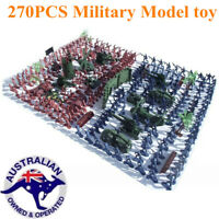 270pcs Military Model Playset Toy Soldiers Army Men Figures Accessories Kid Gift