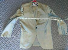 NOS 50s Gray to Yellow & Blue Sharkskin w/ Atomic Fleck Silk Single Button Suit