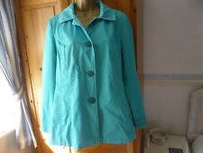 PER UNA RAINCOAT SIZE 14 WATER REPELLENT WITH FLORAL LINING GREAT CONDITION