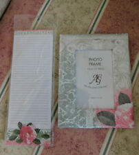 Magnetic Notepad 60 Sheets Paisley Floral Stationery Memo Pad & Photo Frame
