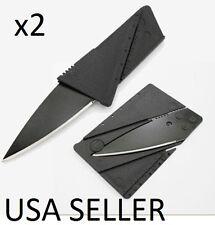 Cardsharp set of 2 Black Credit Card Folding Razor Sharp Wallet Knife SafetyTool