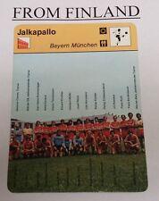 BAYERN MUNICH 1977 FINNISH Sportscaster card FRANZ BECKENBAUER - From Finland