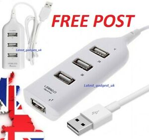 USB 2.0 A Male To 4 USB Female 4 Ports Y Splitter Hub OTG Adapter Cable Cord