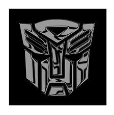 TRANSFORMERS AUTOBOT Chrom schwarz 2x Aufkleber Sticker Emblem 100x100mm