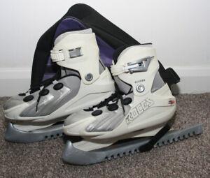 Roces Biomex White Adjustable Ice Skates UK 3-6 EUR 36-40 Kids