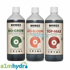 More details for biobizz grow bloom top max 500ml bundle organic plant nutrients hydroponics