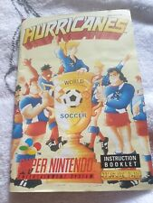 Notice jeux video console super nintendo snes Hurricanes world soccer