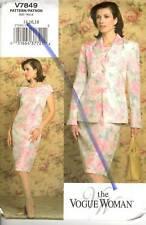 UNCUT Vogue V7849 Sewing Pattern Misses Jacket Dress 14 16 18 The Vogue Woman