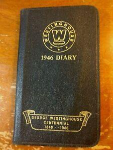 Vintage George Westinghouse 1946 Black Diary Book Centennial Advertisement