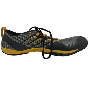 Merrell Trail Glove Barefoot Shoes Size 11.5 US Men's Gray Adventure Yellow