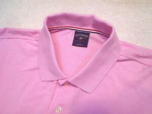 Bills Khakis Cotton Short Sleeve Supima Pique Polo Shirt NWT Large $115 Pink