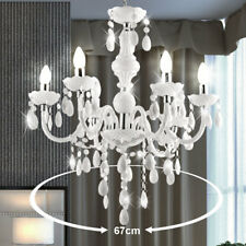 Lustre décor acrylique blanc salle de séjour éclairage chrome suspension chambre
