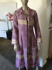 Jennifer Nicholson Hollywood Brocade Tapestry Gold Thread Duster Coat