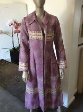 Jennifer Nicholson Hollywood Brocade Tapestry Gold Thread Duster Coat