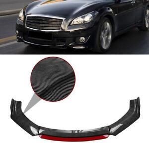 Carbon Fiber Front Bumper Lip Body Kit Spoiler For Infiniti Q50 Q60 Q70 G25 G37