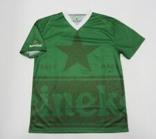 Heineken Lager Beer Short Sleeve Soccer Style Green Polyester Jersey Size OSFA