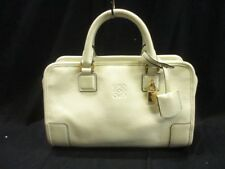Auth LOEWE Amazona 23 White Leather Handbag