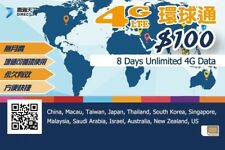 8 Day Asia Data Sim Card for Saudi Arabia Israel Australia New Zealand US China