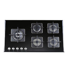 90cm Gas Glass Cooktop 5 Burners Built In Dark Colour for Kitchen