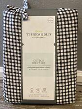 Threshold Cotton Sheet Set Xl Twin Black White Gingham Check