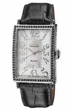 Gevril Women's 6309NV Ave of Americas Glamour Automatic Diamond Leather Watch