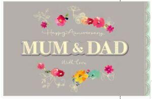UK Greetings Mum and Dad Anniversary Card Landscape Happy Anniversary Mum & Dad