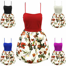 Polyester Floral Petite Dresses Bandeau for Women