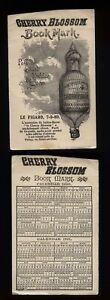1890 Book Mark - Novelty hot air balloon -CHERRY BLOSSOM Perfume toilet soap
